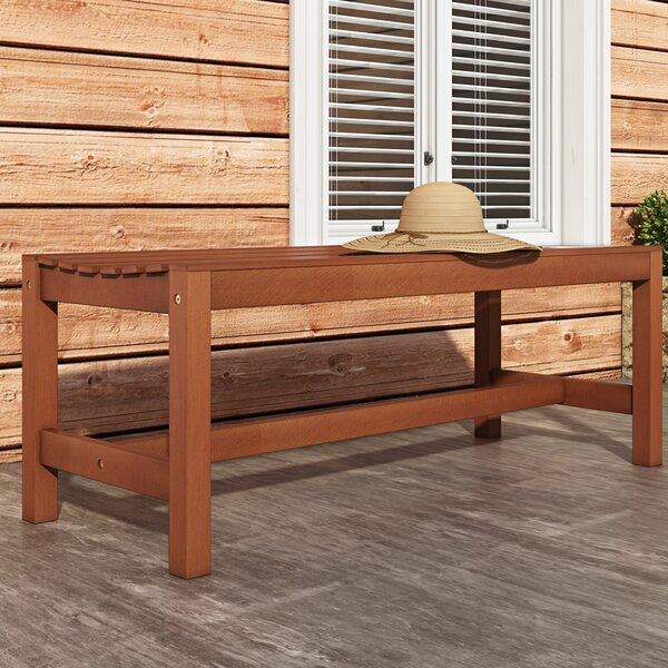 Amabel Wood Outdoor Picnic Bench by Beachcrest Home Beachcrest Home
