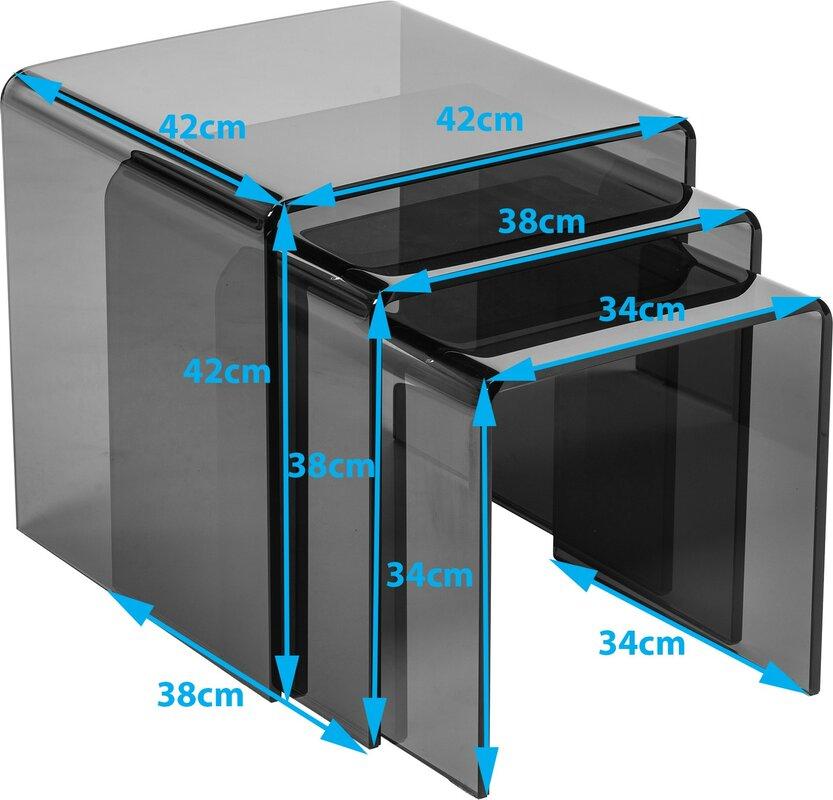 Hokku designs bent curved 3 piece nest of tables set reviews bent curved 3 piece nest of tables set watchthetrailerfo