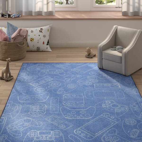 Engler Control Blue Area Rug by Zoomie Kids