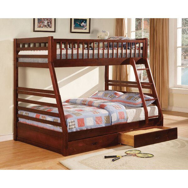 Sansom Twin Over Full Bunk Bed with Drawers by Harriet Bee