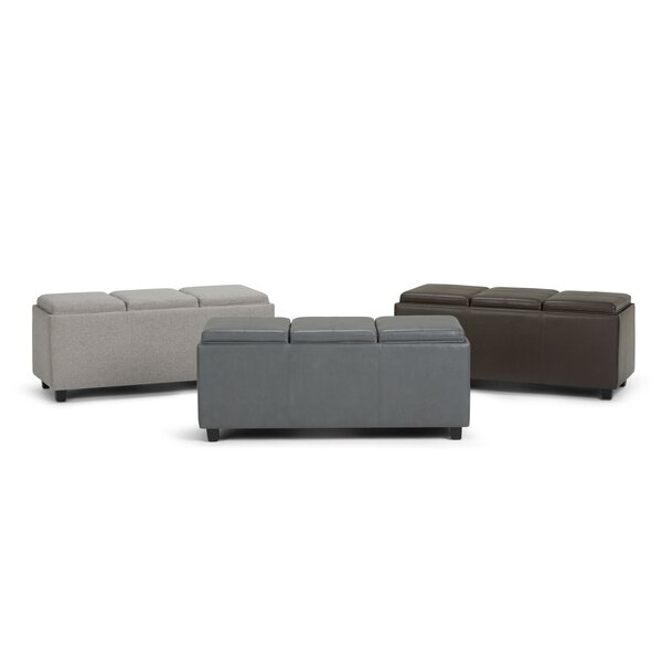 Agnon Faux Leather Storage Bench by Alcott Hill