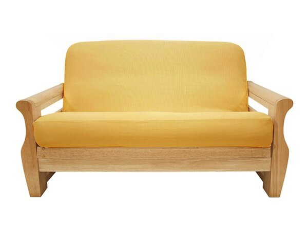 Brushed Sunflower Box Cushion Futon Slipcover by Easy Fit