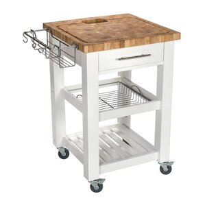pro chef kitchen cart with butcher block top - Butcher Blocks