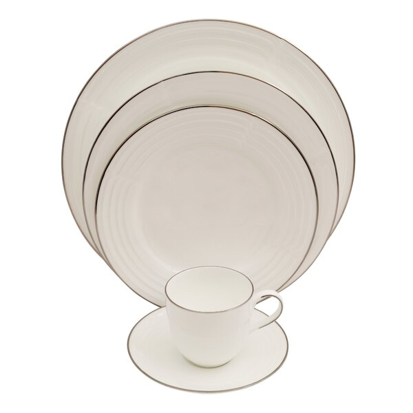 Elegance 5 Piece Bone China Place Setting, Service for 1 (Set of 4) by Shinepukur Ceramics USA, Inc.
