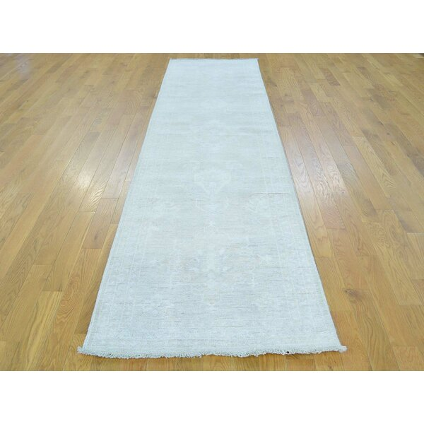 One-of-a-Kind Bearer Hand-Knotted Beige Wool Area Rug by Isabelline
