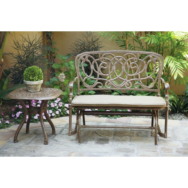 Battista Glider Bench with Cushion by Fleur De Lis Living