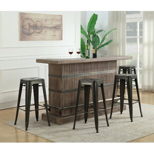 Dasilva 5 Piece Bar Set with Wine Storage By Williston Forge