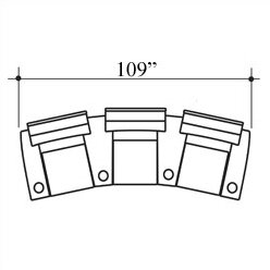 Showtime Home Theater Lounger (Row Of 3) By Bass