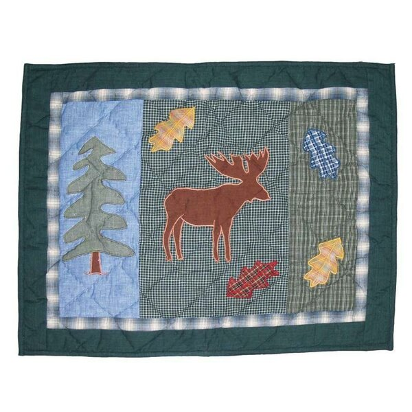 Northwoods Walk Moose Place Mat by Patch Magic