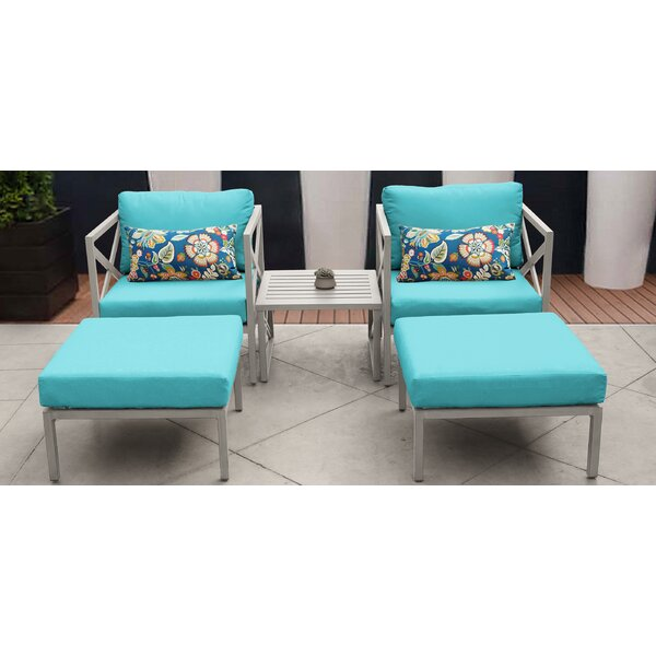 Carlisle 5 Piece Outdoor Conversation Set with Cushions by TK Classics