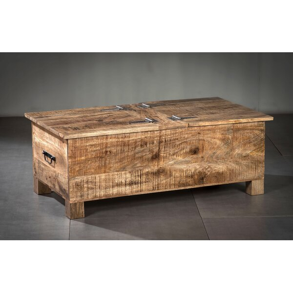 Stephania Wood Flip Top Storage Bench by Foundry Select