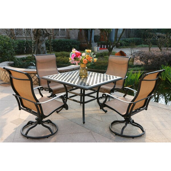 Scoles Aluminum 5 Piece Dining Set by Canora Grey