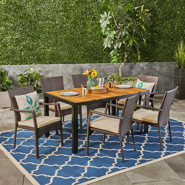 Montello Outdoor 7 Piece Dining Set with Cushions
