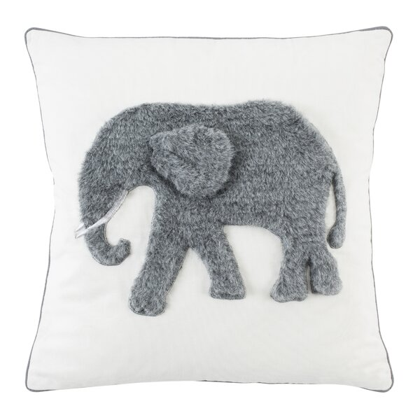 Tapia Snuffles Elephant Cotton Throw Pillow by Harriet Bee
