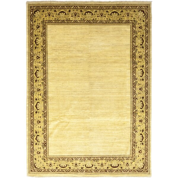 One-of-a-Kind Cowley Hand-Knotted Wool Beige Indoor Area Rug by Astoria Grand