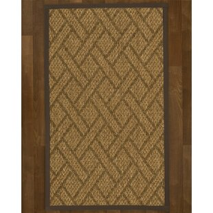 Johnstown Hand-Hooked Brown Area Rug by World Menagerie