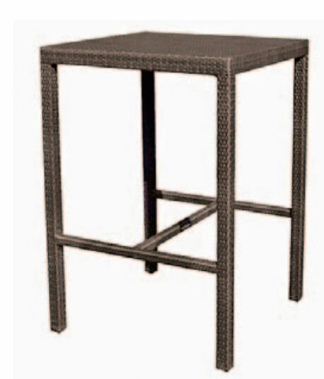 All-Weather Miami Square Counter Wicker Rattan Bistro Table by Woodard