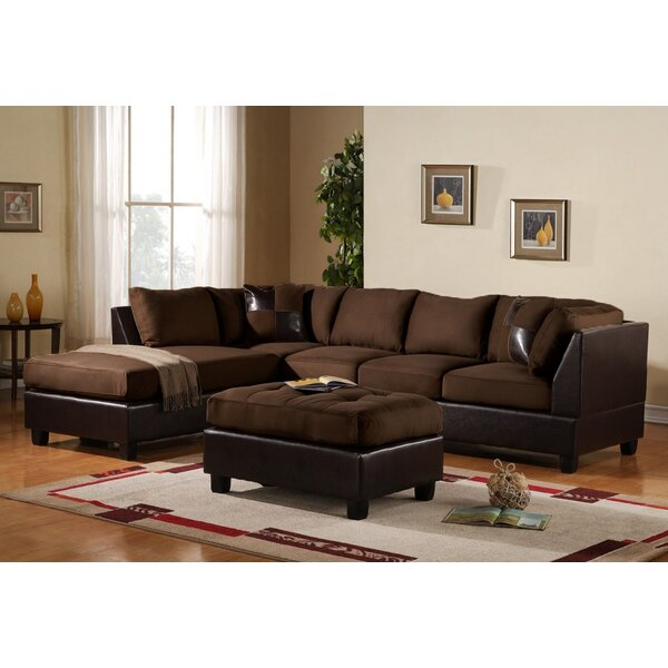 Best #1 Georgetown Reversible Sectional With Ottoman By Red Barrel Studio Cheap