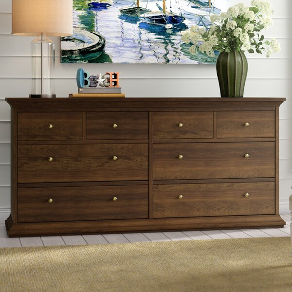 Breckenridge 8 Drawer Double Dresser by Beachcrest Home