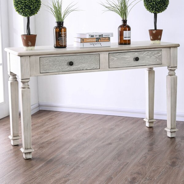 Review Hearne Rustic Console Table