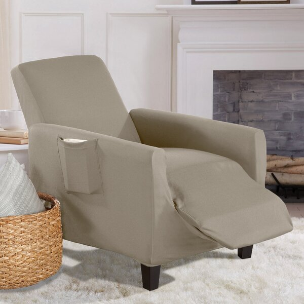 Solid Stretch T-Cushion Recliner Slipcover By Winston Porter
