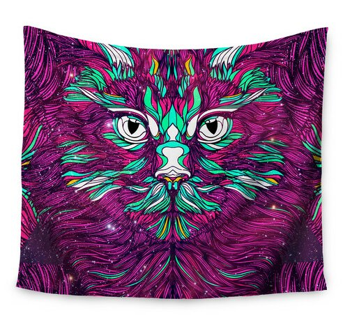 Space Cat by Danny Ivan Wall Tapestry by East Urban Home