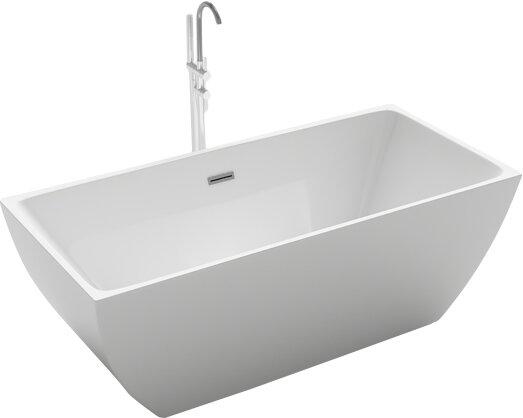 Brenta 66.9 x 29.5 Freestanding Soaking Bathtub by Kokss
