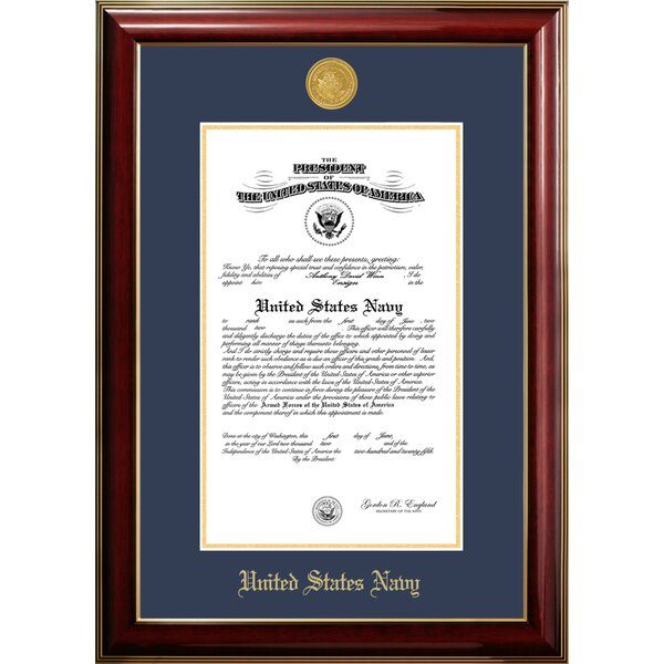 Navy Certificate Classic Picture Frame by Patriot Frames