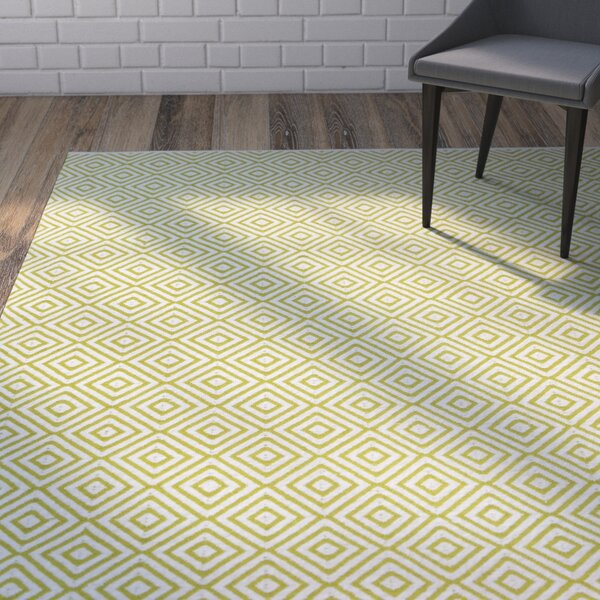 Criswell Hand Woven Cotton Green Area Rug by Wrought Studio
