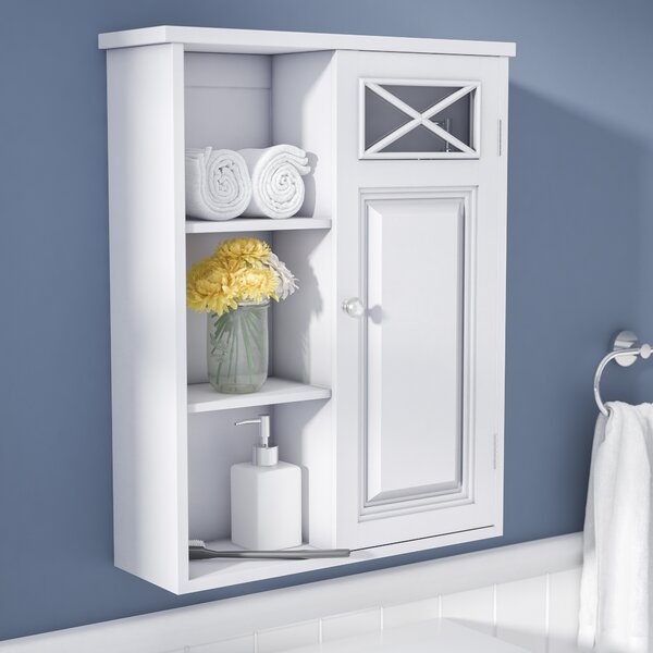 Coddington with Single Door and Shelves 20 W x 25 H Wall Mounted Cabinet by Darby Home Co