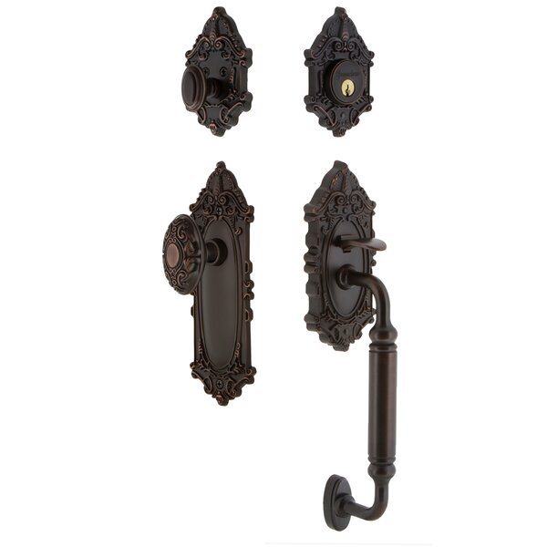 Grande Victorian C Grip Handleset with Door Knob by Grandeur