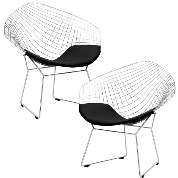 Makris Lounge Patio Chair (Set of 2) by Ivy Bronx