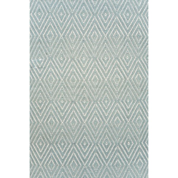 Diamond Hand Woven Blue Indoor/Outdoor Area Rug by Dash and Albert Rugs