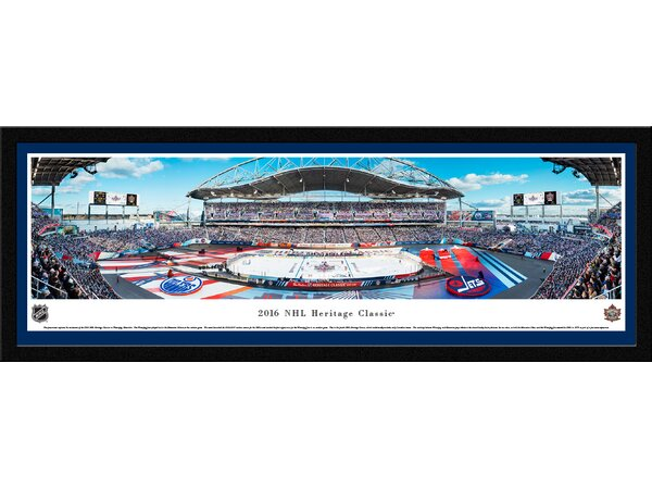 NHL Heritage Classic 2016 Jets vs Oilers Framed Photographic Print by Blakeway Worldwide Panoramas, Inc