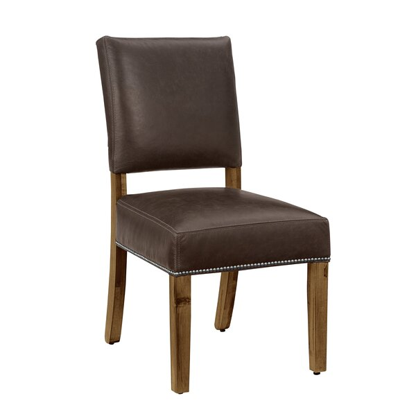 Rader Genuine Leather Upholstered Dining Chair (Set of 2) by Gracie Oaks