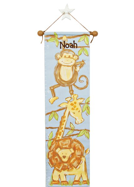 Personalized Safari Growth Chart by Renditions by Reesa