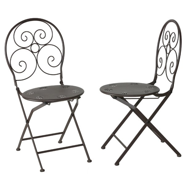 Rushton Folding Patio Dining Chair (Set of 2) by Fleur De Lis Living Fleur De Lis Living
