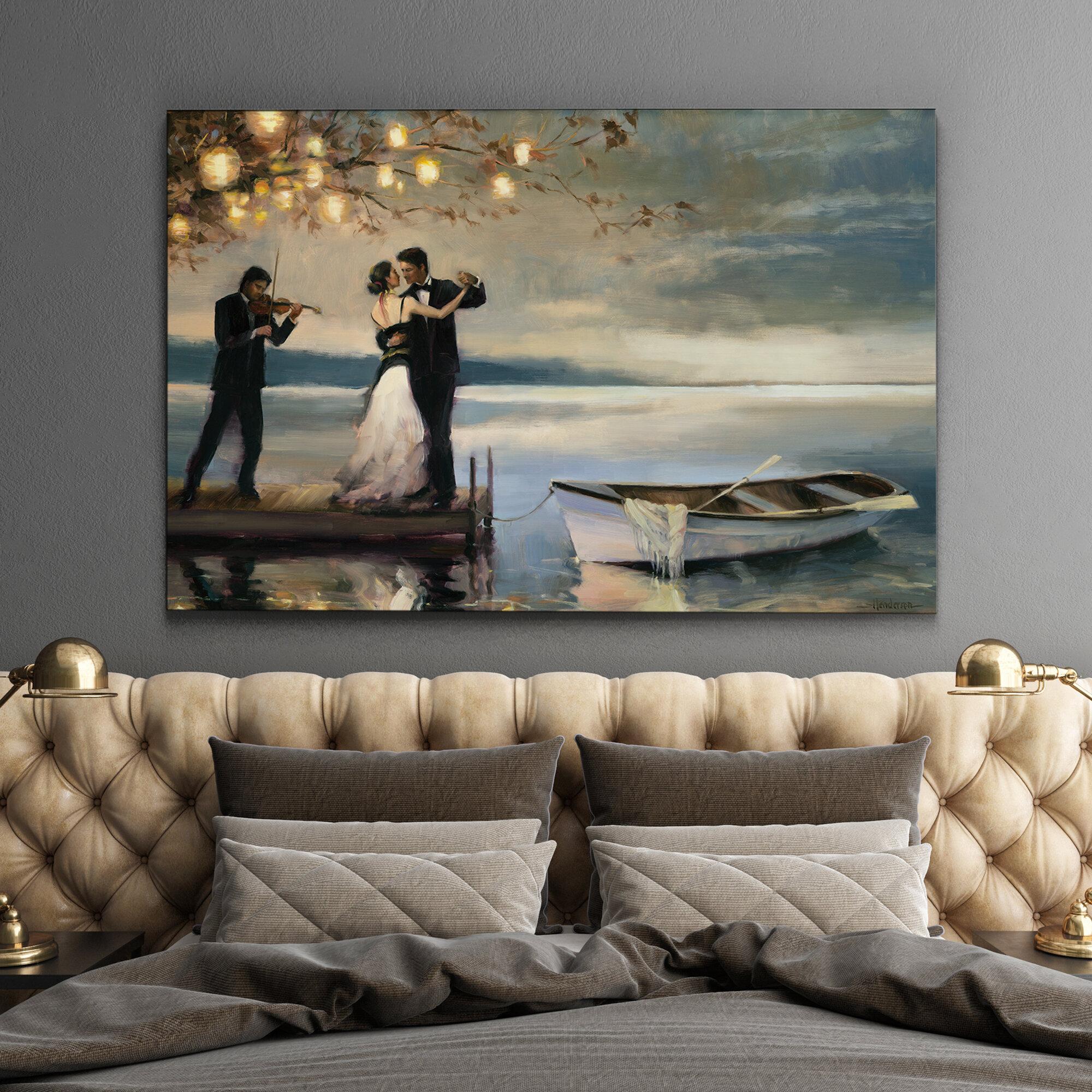 Alcott Hill Twilight Romance Oil Painting Print On Canvas