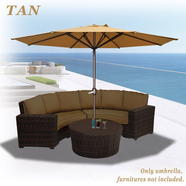 Rosaura Octagonal Solid Outdoor Garden Parasol Patio Market Umbrella by Darby Home Co