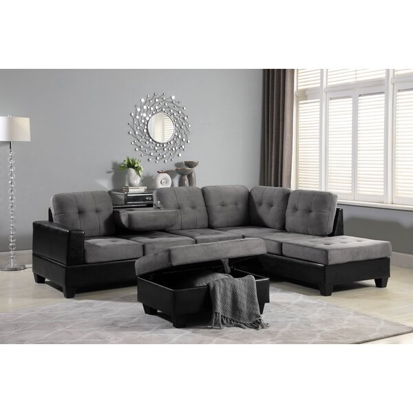 Hoehne Park Place Reversible Sectional with Ottoman by Ebern Designs