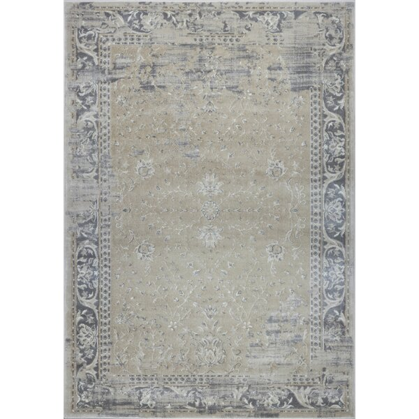 Dipasquale Champagne/Cream Area Rug by Bungalow Rose
