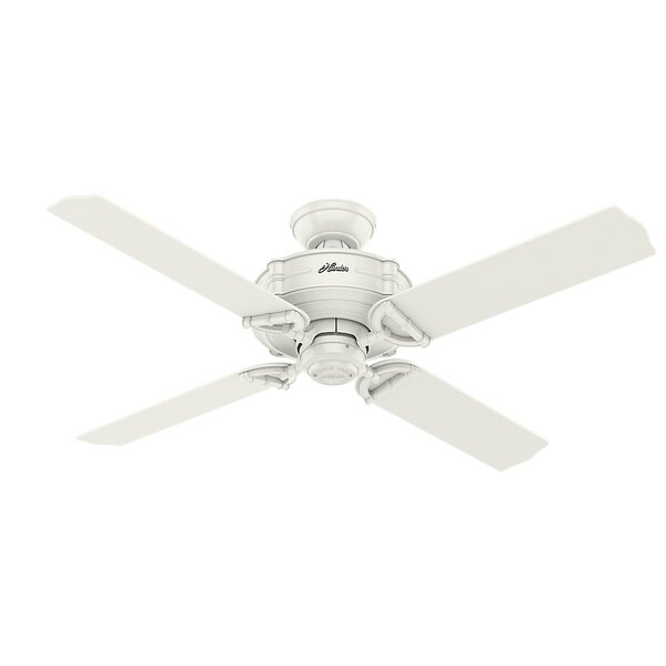 52 Brunswick 4 Blade Indoor/Outdoor Ceiling Fan with Remote by Hunter Fan