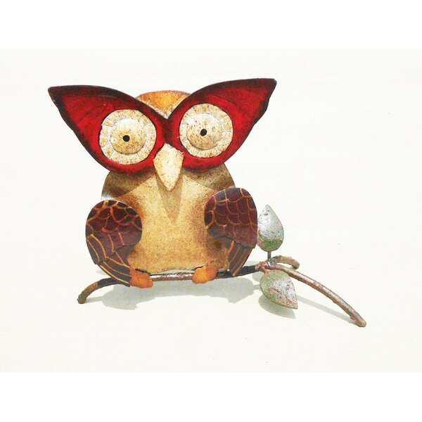 Iron Owl Décor Figurine by D-Art Collection
