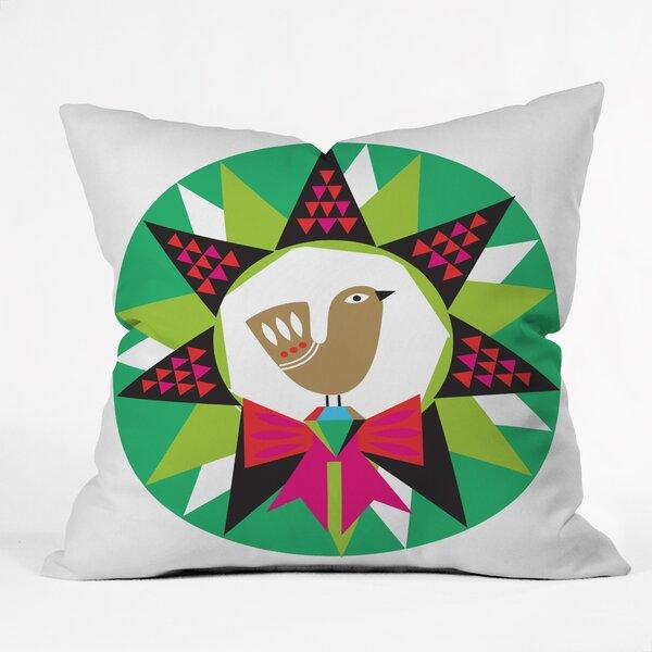 Zoe Wodarz Geo Pop Wreath Throw Pillow by Deny Designs