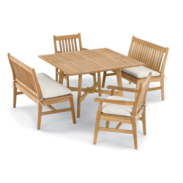 Myres 5 Piece Dining Set with Cushions by Beachcrest Home