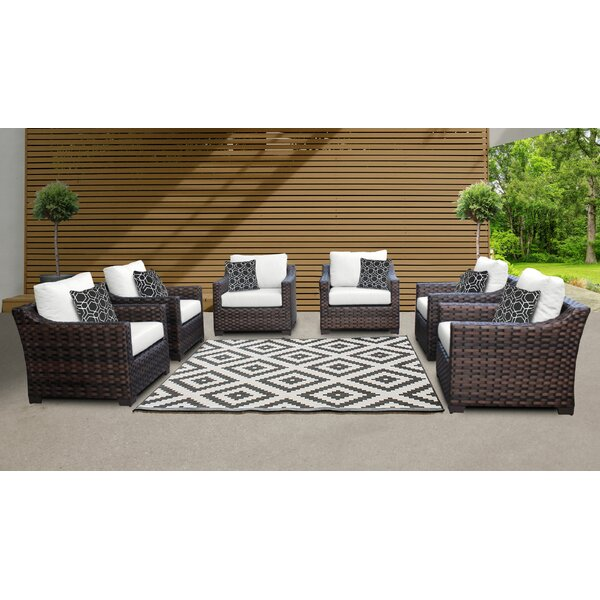 River Brook Patio Chair with Cushions (Set of 6) by kathy ireland Homes & Gardens by TK Classics kathy ireland Homes & Gardens by TK Classics