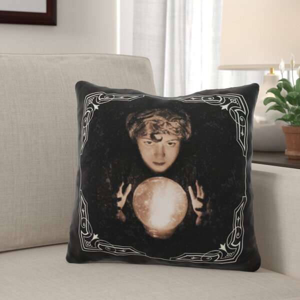 Maser All Seeing Psychic Halloween Throw Pillow by The Holiday Aisle