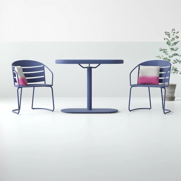 Drayton 3 Piece Bistro Set By Hashtag Home by Hashtag Home Design