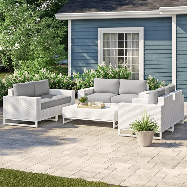 Menifee 7 Piece Sofa Seating Group with Cushions by Sol 72 Outdoor