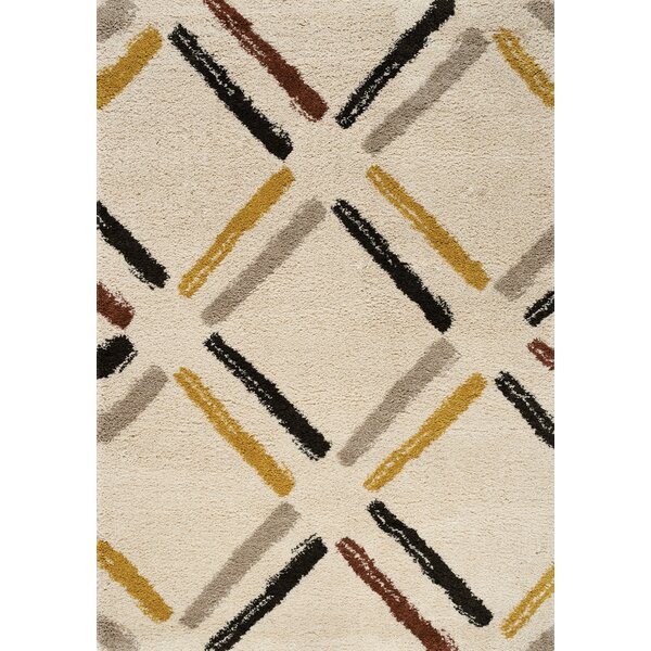 Delgadillo Tiles Soft Touch Cream Area Rug by Brayden Studio